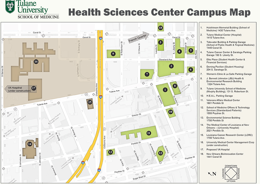 Health Sciences Center Campus Map | Medicine