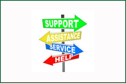 illustration of street sign-support, assistance, service, help