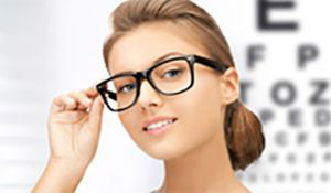 eye care woman in glasses