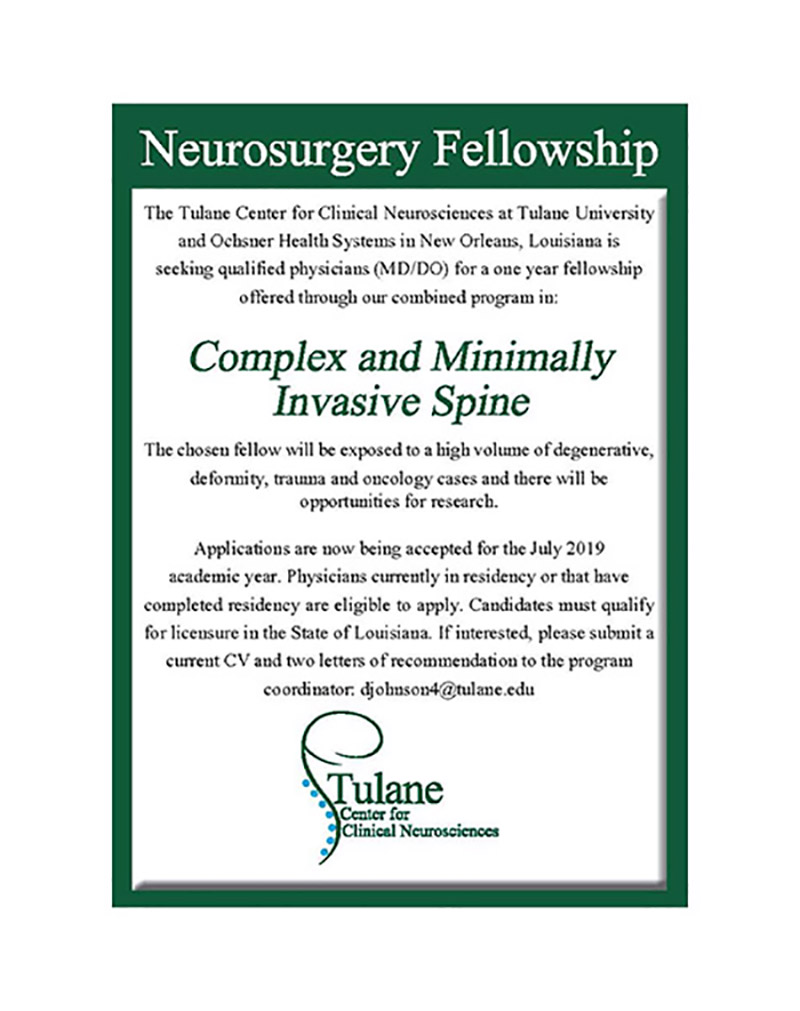 neurosurgery fellowship information
