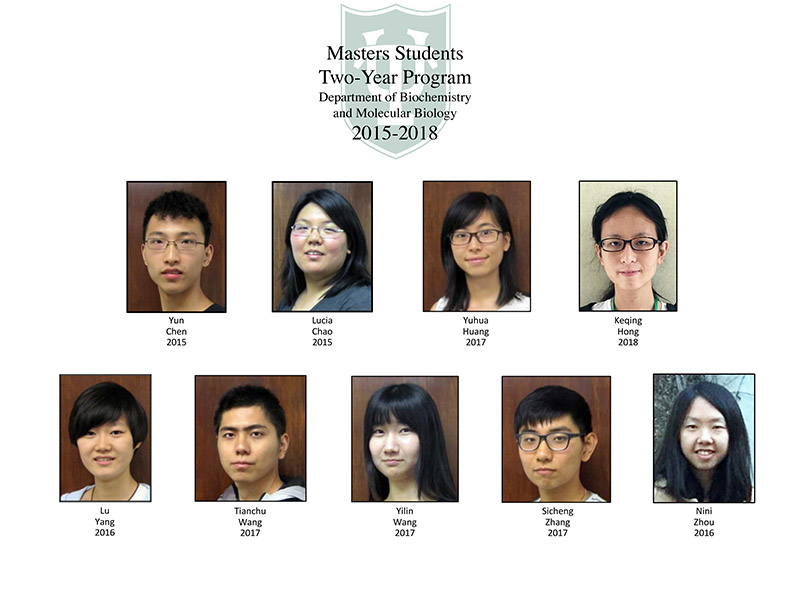 Masters 2-year program participants