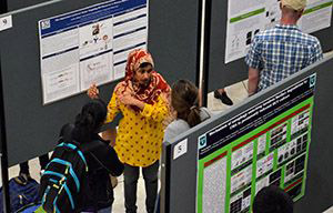 female presenting poster