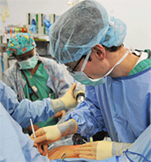 students in surgery