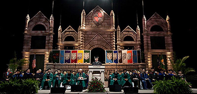 Tulane graduation stage