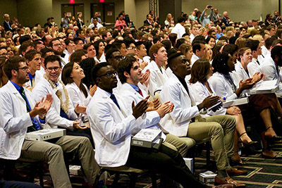 white coat day audience